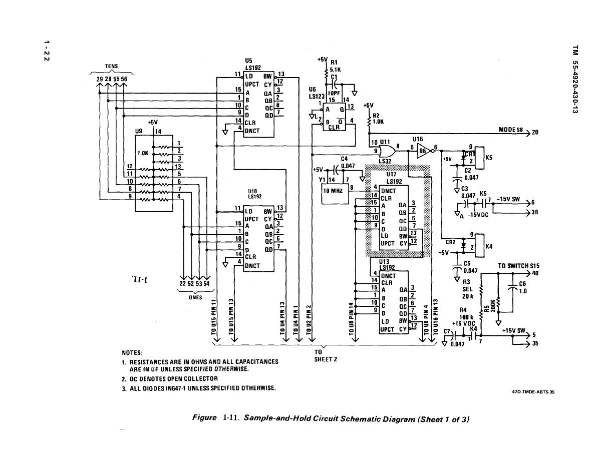 Figure 1 11 Sample And Hold Circuit Schematic Diagram Sheet Of 3