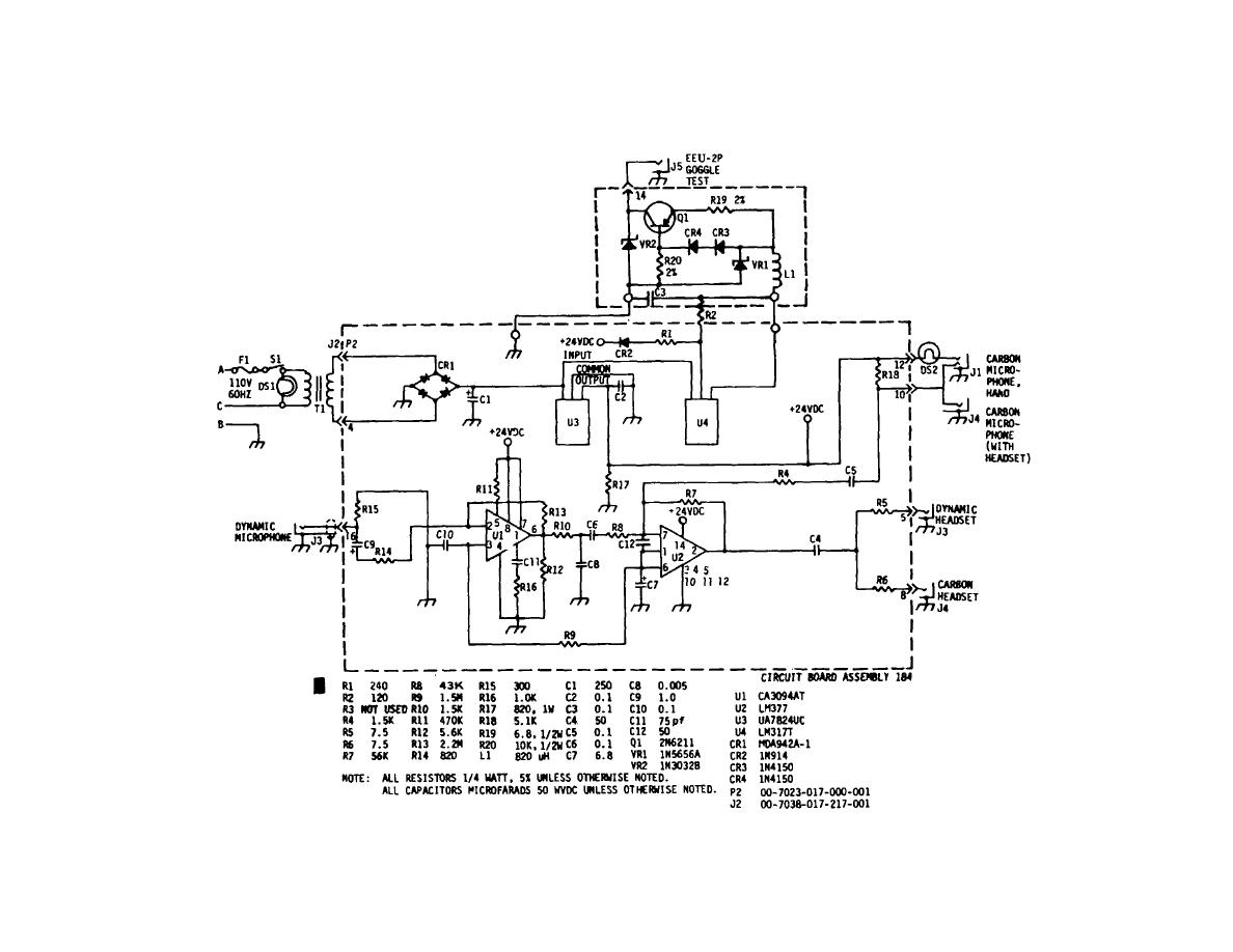 Figure 6 1 Schematic Diagram Of Oxygen Mask Headset Microphone Mq Circuit To 33d2 10 41