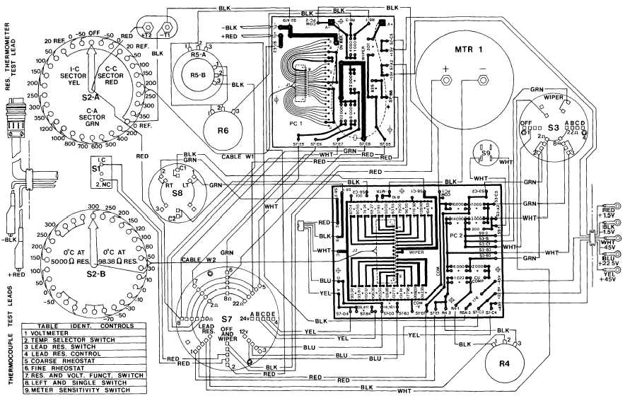 FO1 SCHEMATIC    WIRING       DIAGRAM       PYROMETER    TESTER PN 5500
